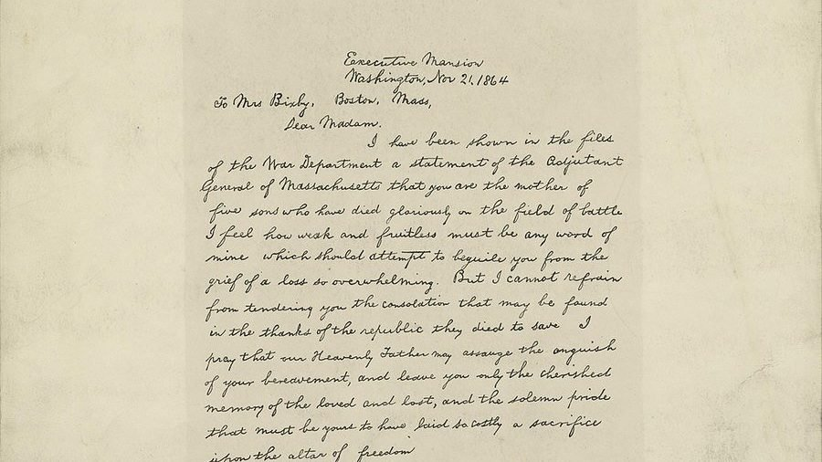 The Bixby Letter: A New Analysis Casts Doubt 1