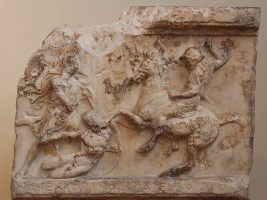 Athenian funeray stele.