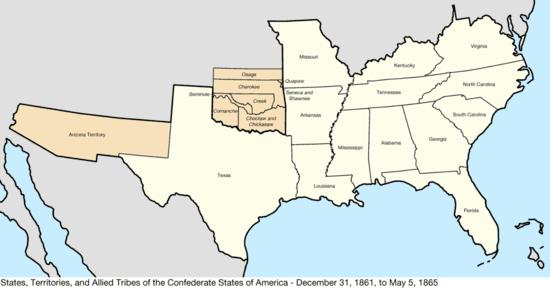 Confederate Territory 1861