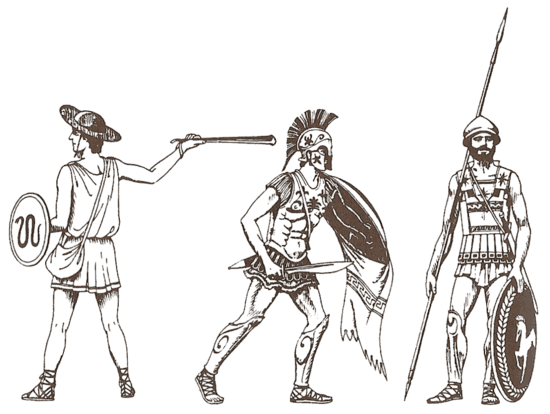 Greek soldiers of Greco-Persian Wars
