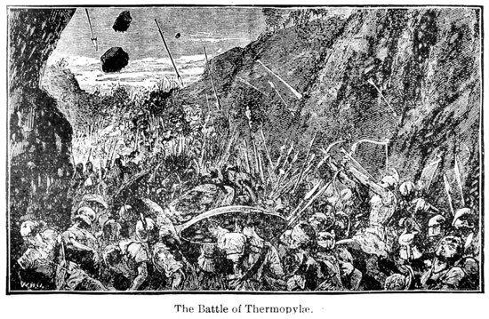 Battle of Thermopylae Engraving