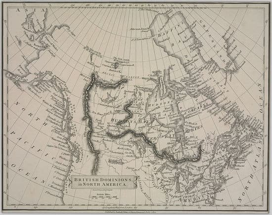 Map of British territory in North America
