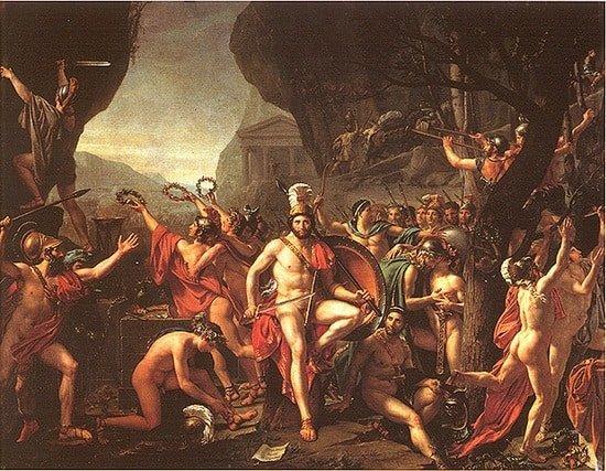 Leonidas at the Thermopylae Jacques-Louis David