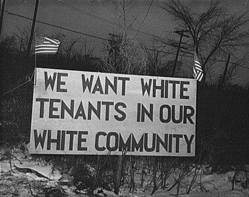 White-tenants only
