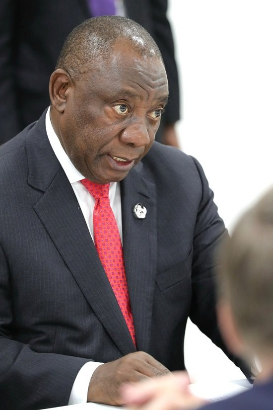 A picture of South African president Cyril Ramaphosa
