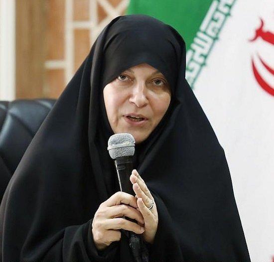 A picture of Iranian lawmaker Fatemeh Rahbar.