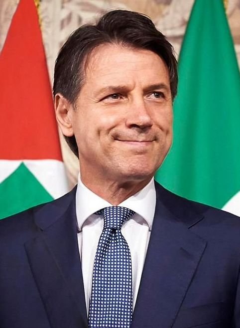 A picture of Italian Prime Minister Giuseppe Conte.