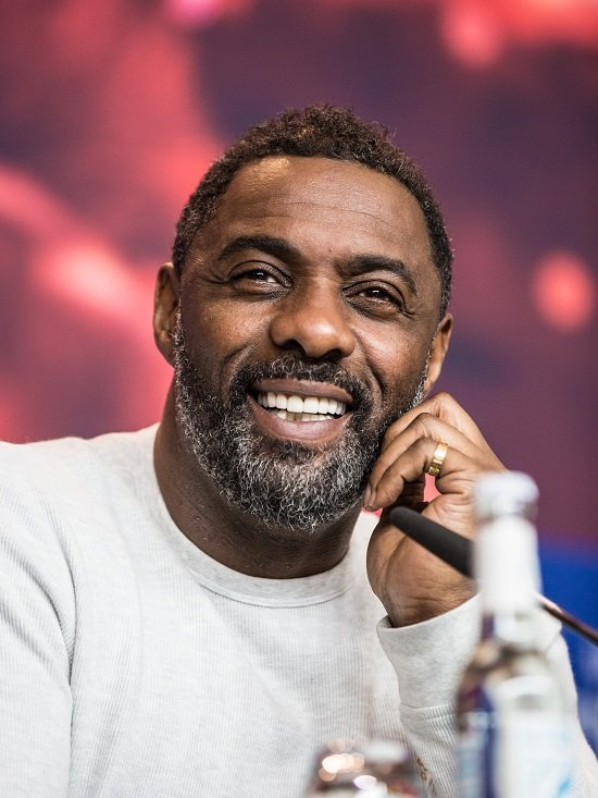 A picture of British actor Idris Elba at the Berlin International Film Festival in 2018.