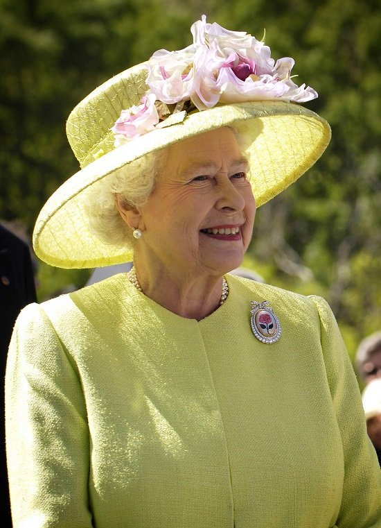 Queen Elizabeth II during a visit to NASA's Goddard Space Flight Center.