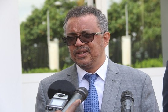 A picture of Dr Tedros Adhanom Ghebreyesus, director-general of the World Health Organisation.